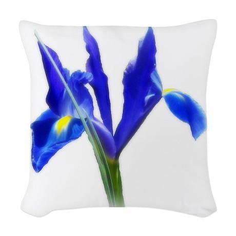 Blue Iris Woven Throw Pillow by Admin_CP38943689