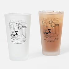 6347_flower_cartoon Drinking Glass