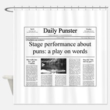 Play on Words Pun Shower Curtain
