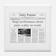 Play on Words Pun Tile Coaster