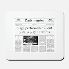Play on Words Pun Mousepad