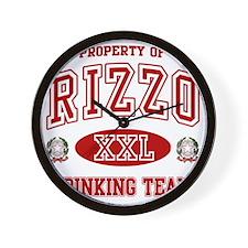 Rizzoi Italian Drinking Team Wall Clock