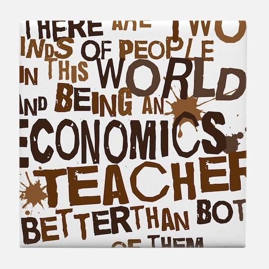 economicsteacherbrown Tile Coaster