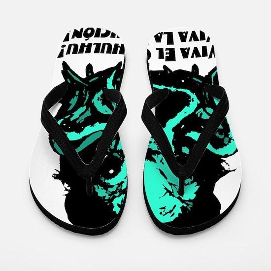 Viva El Chethulhu Viva La Rlyejhcion 1 Flip Flops
