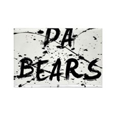 da bears paint splatter Rectangle Magnet