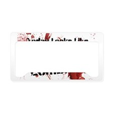 Ceramic Travel Zombie Coffee License Plate Holder