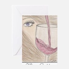 winegoddess2 Greeting Card