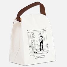 6342_building_cartoon Canvas Lunch Bag