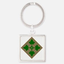 4th inf div Square Keychain