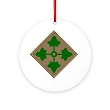 4th inf div Round Ornament