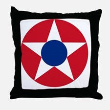 8x10-Roundel_of_the_Costa_Rican_Milit Throw Pillow