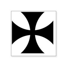 "5x5-Cross-Pattee-Heraldry Square Sticker 3"" x 3"""