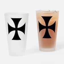 5x5-Cross-Pattee-Heraldry Drinking Glass