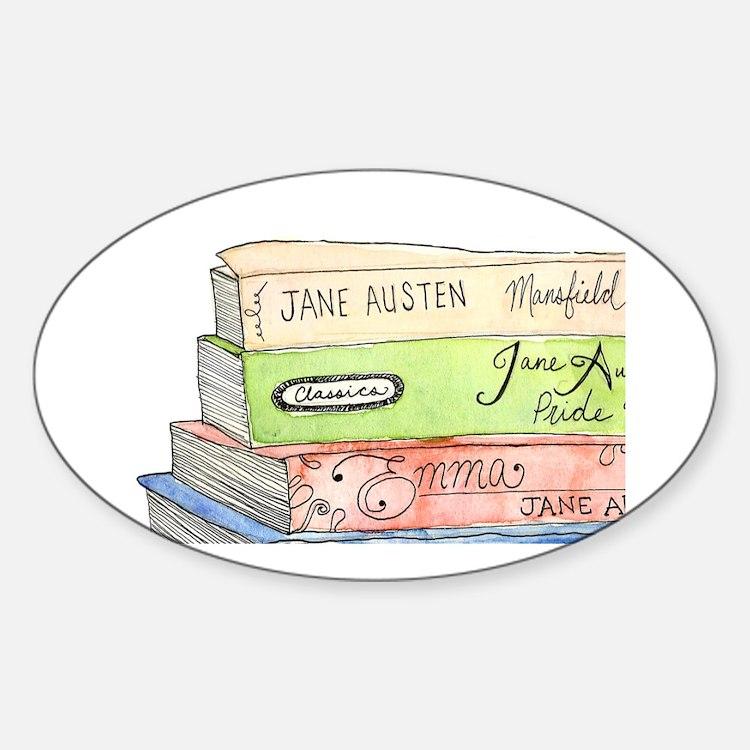 janeaustenbooks Sticker (Oval)