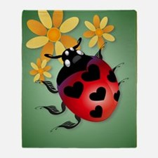 All Heart Ladybug PosterP Throw Blanket