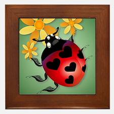 All Heart Ladybug PosterP Framed Tile