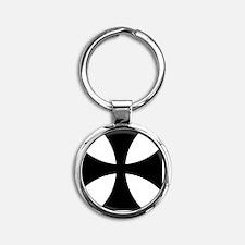 8x10-Cross-Pattee-Heraldry Round Keychain