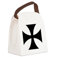 10x10-Cross-Pattee-Heraldry Canvas Lunch Bag