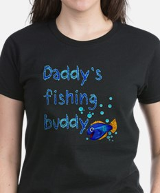 Daddys_fishing_buddy_drk Tee