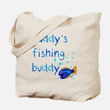 Daddys_fishing_buddy_drk Tote Bag