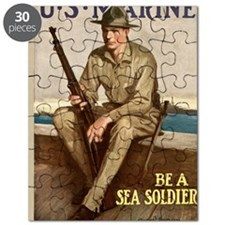 WWI Marines Sea Soldier Poster Puzzle