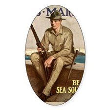 WWI Marines Sea Soldier Poster Decal