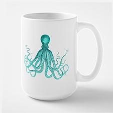 Blue/Green Octopus Mugs