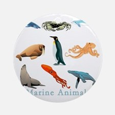 Marine Animals-10x10_apparel Round Ornament