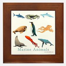 Marine Animals-10x10_apparel Framed Tile