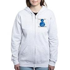 breastfeeding copy Zip Hoodie