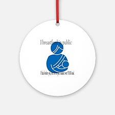 breastfeeding copy Round Ornament