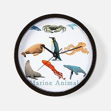Marine Animals-10x10_apparel Wall Clock
