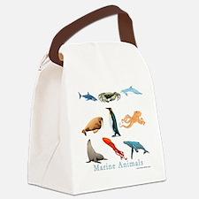 Marine Animals-10x10_apparel Canvas Lunch Bag