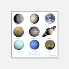 "Planets-10x10_apparel Square Sticker 3"" x 3"""