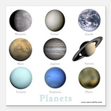 "Planets-10x10_apparel Square Car Magnet 3"" x 3"""