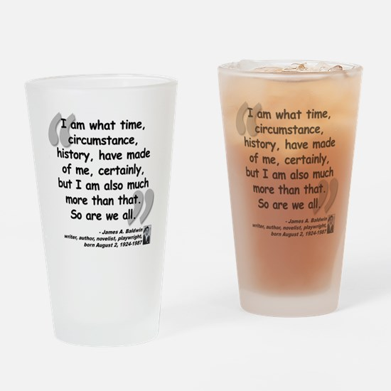 Baldwin More Quote Drinking Glass