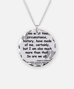 Baldwin More Quote Necklace Circle Charm
