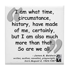 Baldwin More Quote Tile Coaster