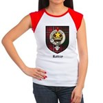 Rattray Clan Crest Tartan Women's Cap Sleeve T-Shi