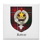 Rattray Clan Crest Tartan Tile Coaster