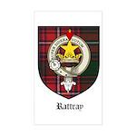 Rattray Clan Crest Tartan Rectangle Sticker