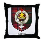 Rattray Clan Crest Tartan Throw Pillow