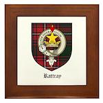 Rattray Clan Crest Tartan Framed Tile