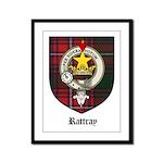Rattray Clan Crest Tartan Framed Panel Print
