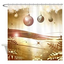 Xmas balls Shower Curtain