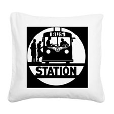 busta_lg_b_bleed Square Canvas Pillow
