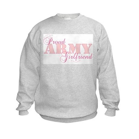 Proud Army Girlfriend Kids Sweatshirt