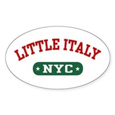 Little Italy NYC Oval Decal