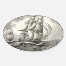 23x35_largePoster_USSconstitution Sticker (Oval)