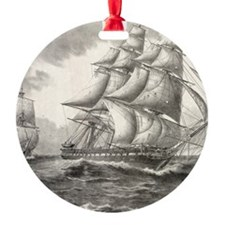 16x20_smallPoster_USSconstitution Ornament